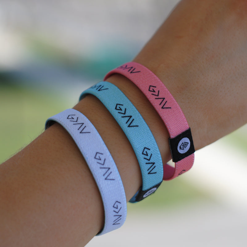 "3-PACK | ""God is Greater"" Reversible Bracelets [White/Pink/Mint] - Christian Apparel and Accessories - Ascend Wood Products"
