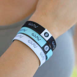 "3-PACK | ""God is Greater"" Reversible Bracelets [White/Black/Mint] - Christian Apparel and Accessories - Ascend Wood Products"