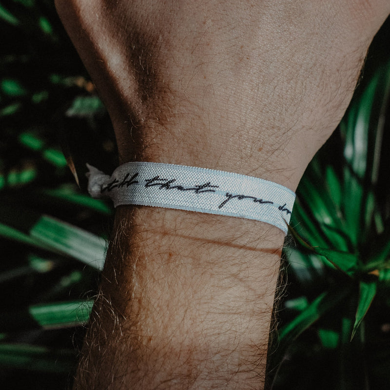 Let All That You Do Be Done In Love - Hair Tie Wristband - Christian Apparel and Accessories - Ascend Wood Products
