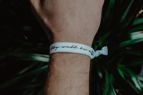 Thy Will Be Done - Hair Tie Wristband - Christian Apparel and Accessories - Ascend Wood Products