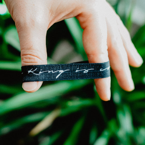 The King Is Coming - Hair Tie Wristband - Christian Apparel and Accessories - Ascend Wood Products