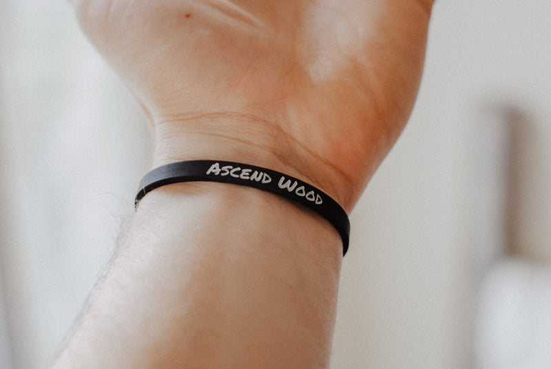 Slave to Christ - Thin Silicone Wristband - Christian Apparel and Accessories - Ascend Wood Products