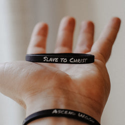 Slave to Christ (2 Pack) - Thin Silicone Wristbands - Christian Apparel and Accessories - Ascend Wood Products