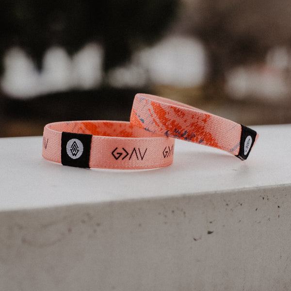 God is Greater Reversible Wristband - Pink
