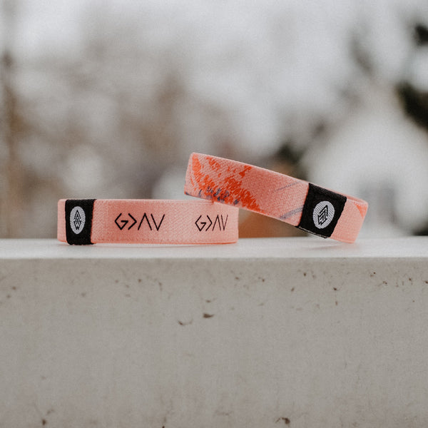 NEW* God is Greater Reversible Wristband - Pink