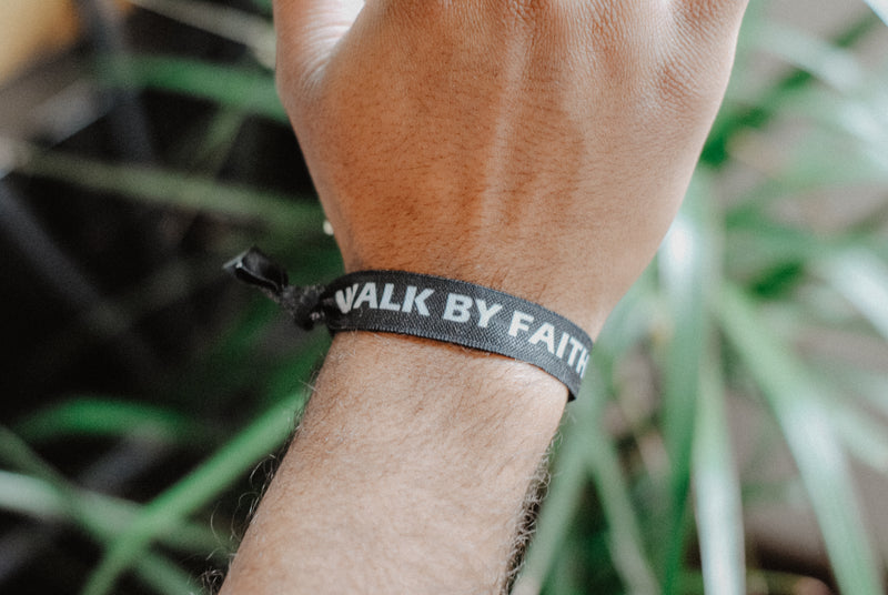 Walk By Faith, Not By Sight - Hair Tie Wristband