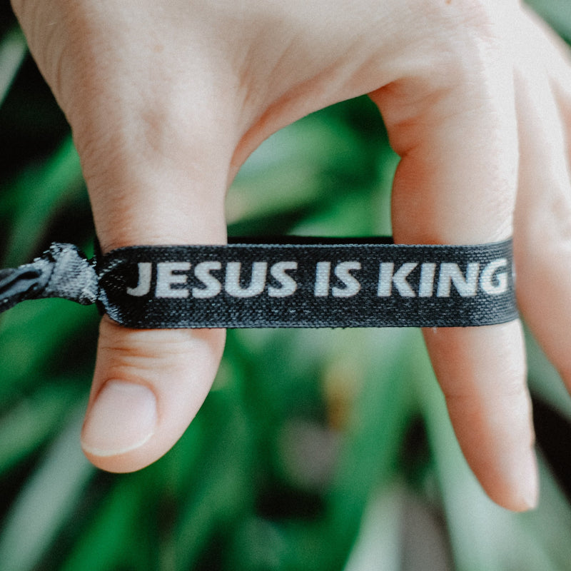 Jesus is King/Jesus is Lord - Hair Tie Wristbands - Christian Apparel and Accessories - Ascend Wood Products