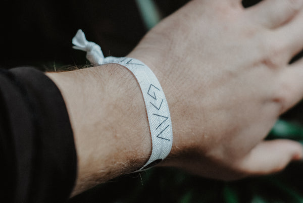NEW* God is Greater - Hair Tie Wristband (White)