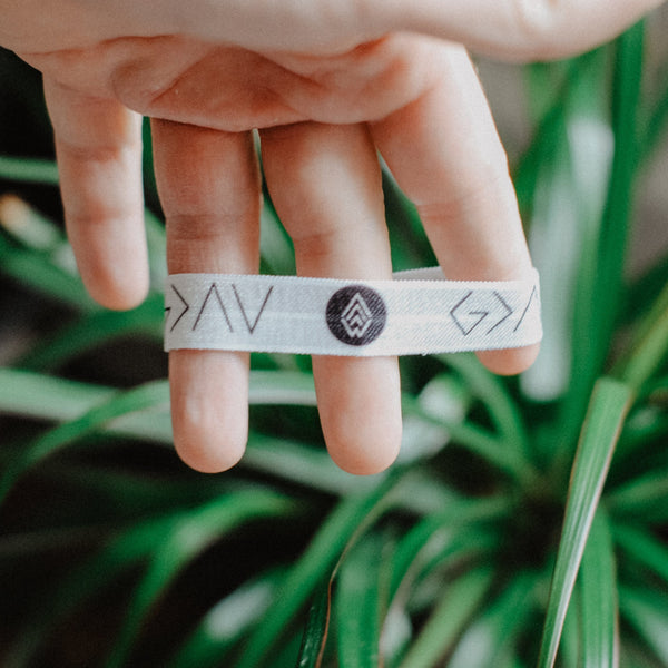 NEW* God is Greater - Hair Tie Wristband (White) - Christian Apparel and Accessories - Ascend Wood Products