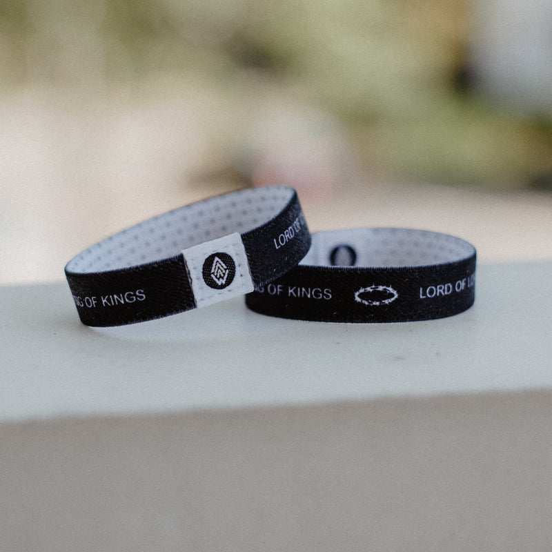King of Kings Reversible Wristband - Christian Apparel and Accessories - Ascend Wood Products