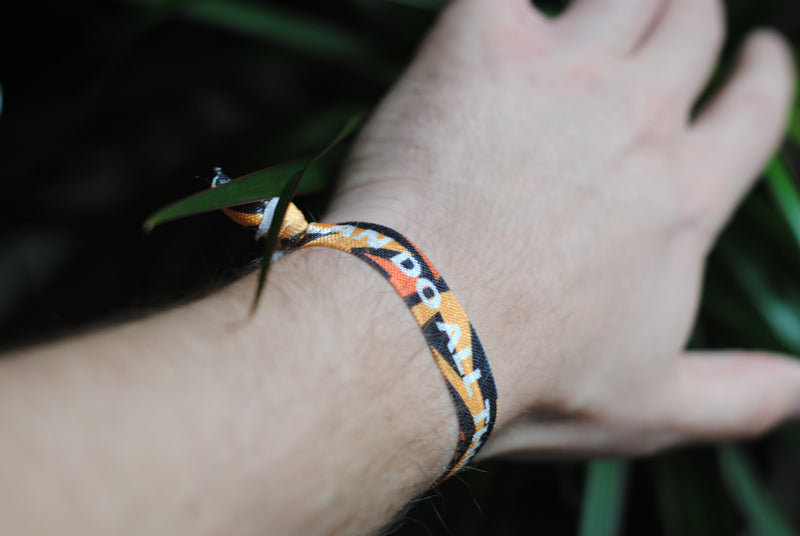 "[Limited Edition] Philippians 4:13 - ""I Can Do All Things Through Christ"" Hair Tie Wristband (Black/Orange)"