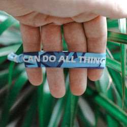"[Limited Edition] Philippians 4:13 - ""I Can Do All Things Through Christ"" Hair Tie Wristband - Christian Apparel and Accessories - Ascend Wood Products"