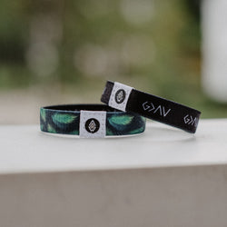 God is Greater Reversible Wristband - Black - Christian Apparel and Accessories - Ascend Wood Products