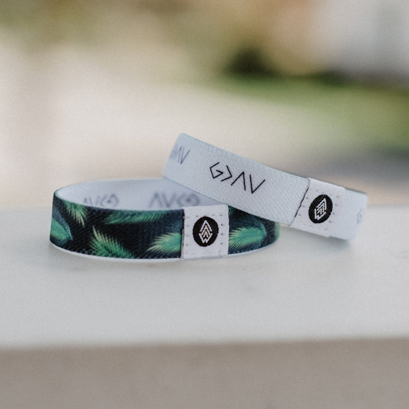 God is Greater Reversible Wristband - White