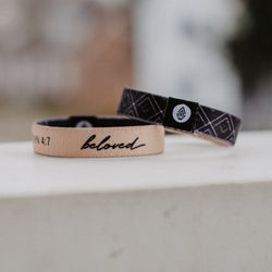 Beloved Reversible Wristband - Tan