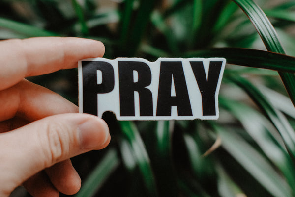 PRAY - Decal Sticker - Christian Apparel and Accessories - Ascend Wood Products