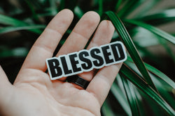 Blessed - Decal Sticker - Christian Apparel and Accessories - Ascend Wood Products