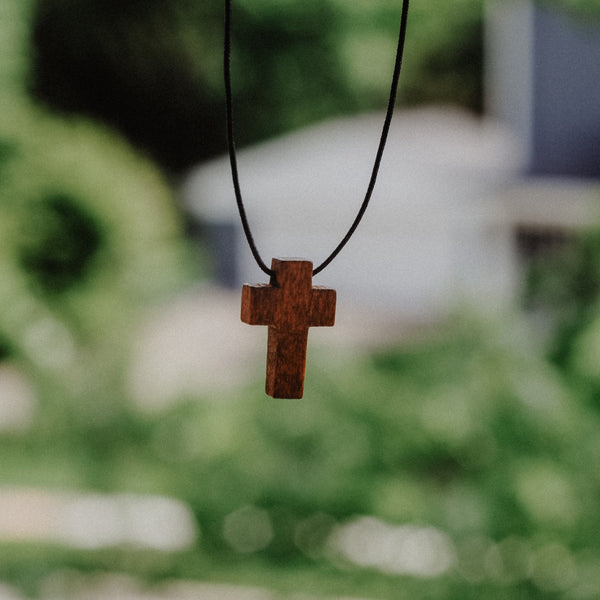 Wooden Cross Necklace - Christian Apparel and Accessories - Ascend Wood Products