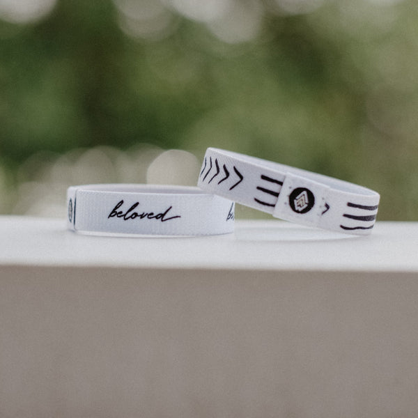 Beloved Reversible Wristband - White - Christian Apparel and Accessories - Ascend Wood Products