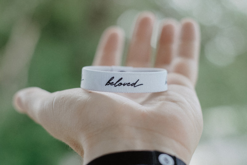 Beloved Reversible Wristband - White
