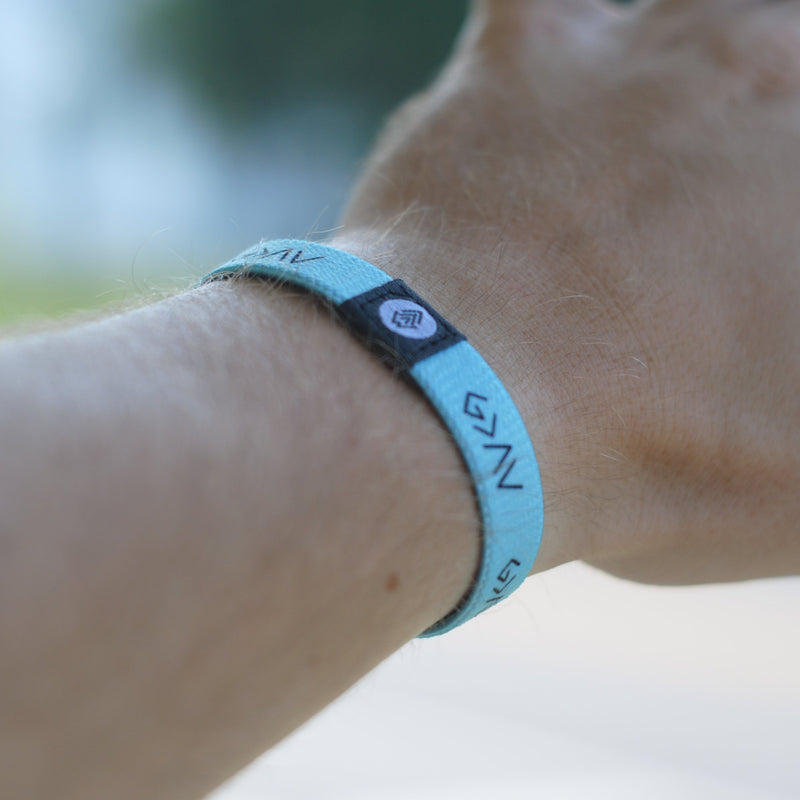 God is Greater Reversible Wristband - Mint - Christian Apparel and Accessories - Ascend Wood Products