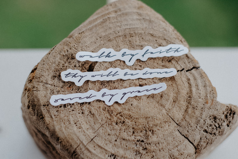 Handwritten Decal Sticker Pack #1 - Christian Apparel and Accessories - Ascend Wood Products