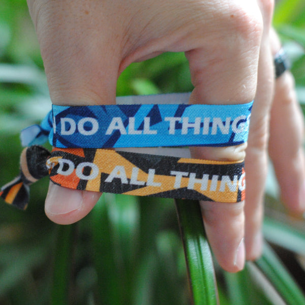 "2-PACK | [Limited Edition] Philippians 4:13 - ""I Can Do All Things Through Christ"" Hair Tie Wristbands - Christian Apparel and Accessories - Ascend Wood Products"