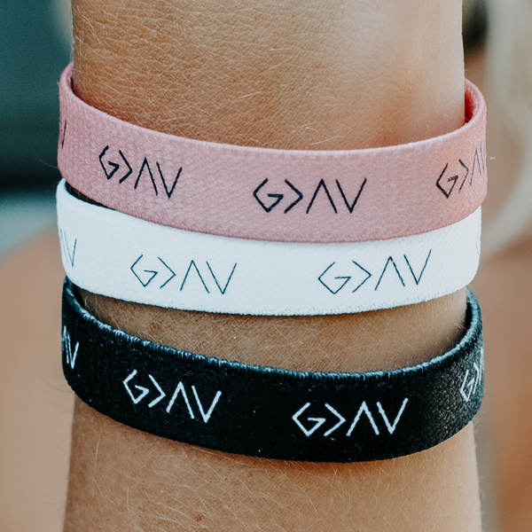 "3-PACK | ""God is Greater"" Reversible Wristbands - Christian Apparel and Accessories - Ascend Wood Products"
