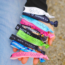 10-Pack Hair Tie Wristbands ($160 Value) - Christian Apparel and Accessories - Ascend Wood Products