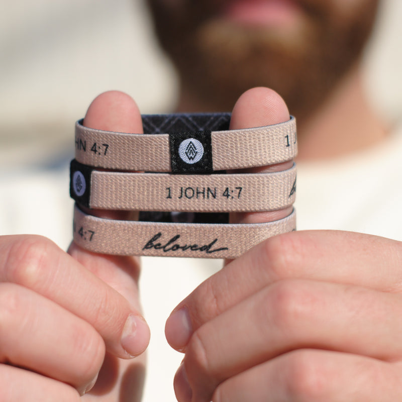 Beloved Reversible Wristband - Tan - Christian Apparel and Accessories - Ascend Wood Products