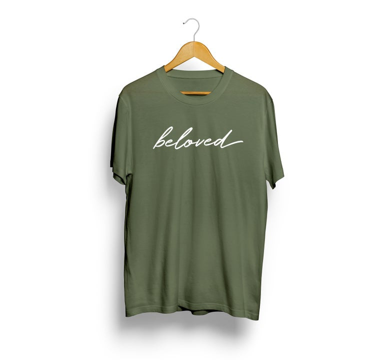 Beloved Shirt - Olive - Christian Apparel and Accessories - Ascend Wood Products