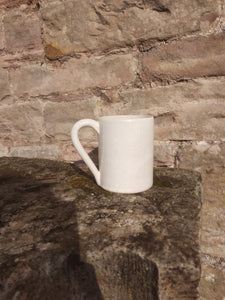 Very large ivory white mug pint pot