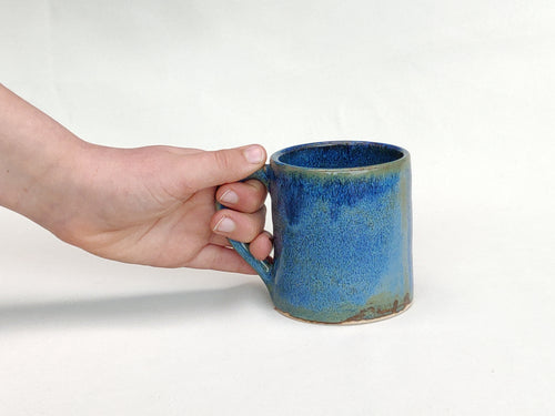 Coffee cup - mug - storm blue  - stoneware ceramic - handmade - also made to order