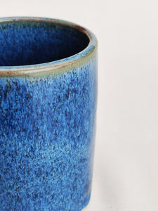 Coffee cup - mug - very blue stoneware ceramic - handmade - also made to order