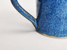 Load image into Gallery viewer, Coffee cup - mug - very blue stoneware ceramic - handmade - also made to order