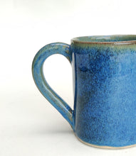 Load image into Gallery viewer, Coffee cup - mug - intense blue stoneware ceramic - handmade - also made to order