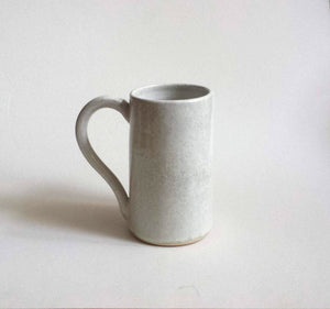 Ivory white Stoneware ceramic mug - tall mug - handmade - crystalline glaze. Made to order