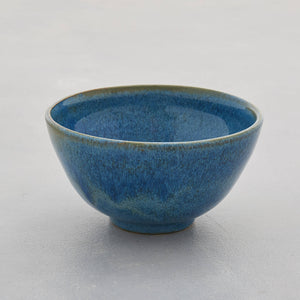 Blue Green Stoneware Ceramic Nibbles Bowl Sugar Bowl Handmade