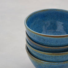 Load image into Gallery viewer, Blue Green Stoneware Ceramic Nibbles Bowl Sugar Bowl Handmade