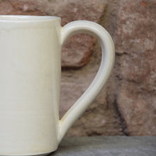 Load image into Gallery viewer, Ivory White Stoneware Ceramic Mug handmade.