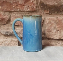Load image into Gallery viewer, Large blue jug - stoneware - ceramic - handmade
