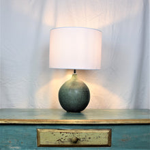 Load image into Gallery viewer, Pair of Handmade Lamp Bases Stoneware Ceramic Matt Green Glaze