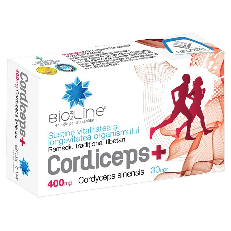 Cordiceps Plus, 400 mg, Helcor, 30 tablete