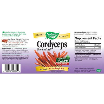 Cordyceps, Standardized, Nature's Way, 60 capsule | Secom-Default-DAGRINO.RO