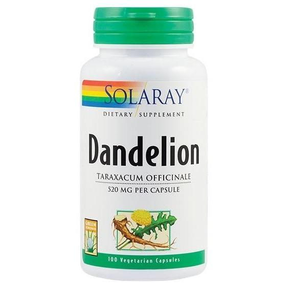 Dandelion 520mg, Solaray, 100 capsule | Secom 0