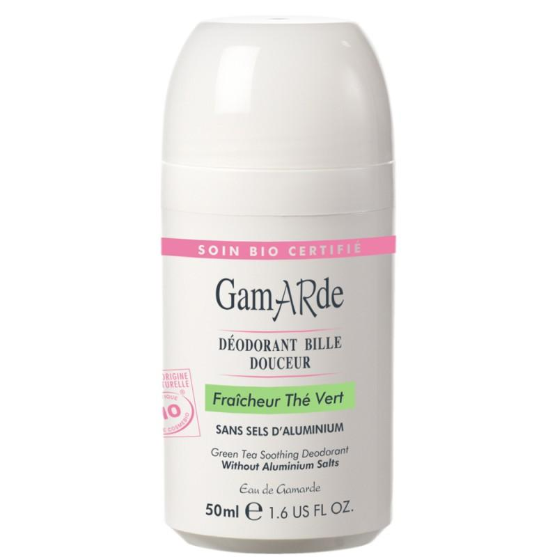 Deodorant natural roll-on cu ceai verde, bio, Gamarde, 50ml