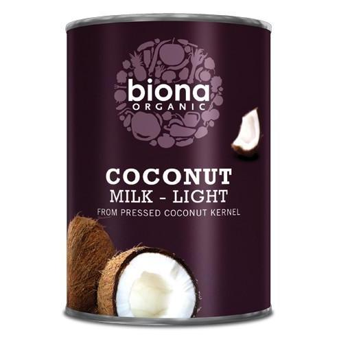Lapte de cocos light, bio, Biona, 400ml