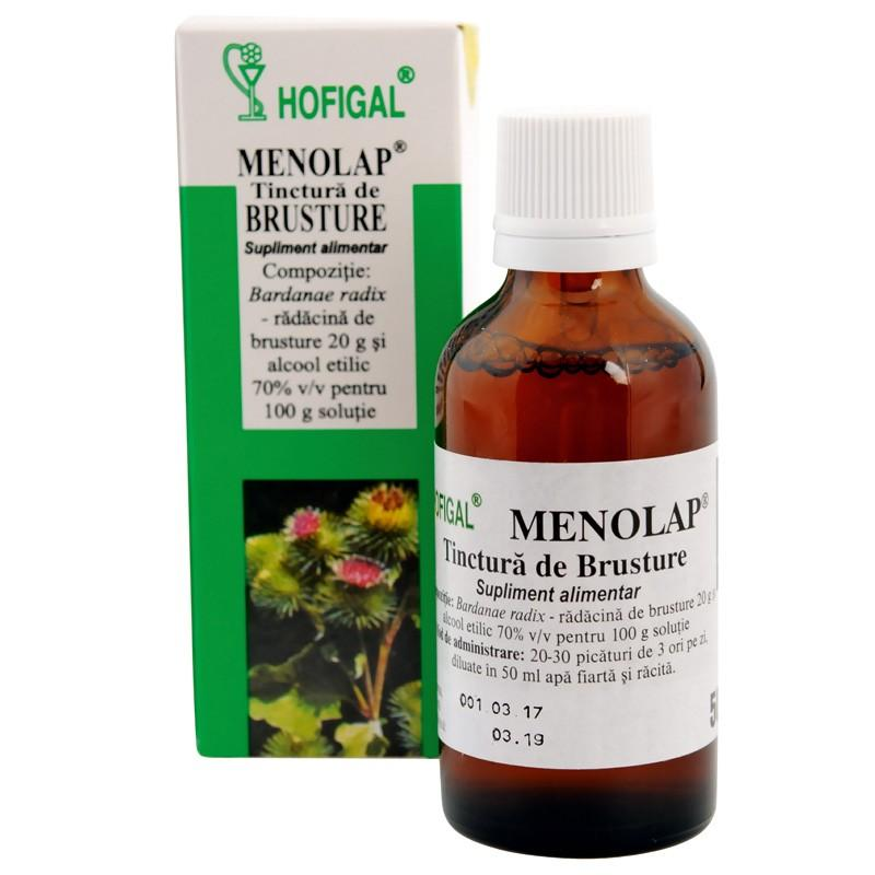 Menolap, Tinctură de brusture, Hofigal, 50 ml