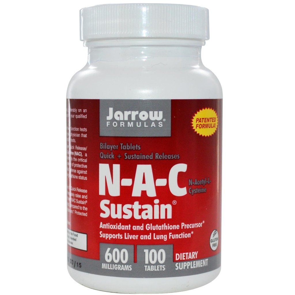 N-A-C Sustain, Jarrow Formulas, 600 mg, 100 tablete | Secom