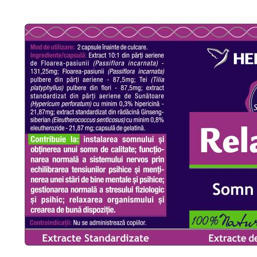 Relax Well, Herbagetica 1